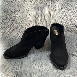 Brash black slip on booties size 8